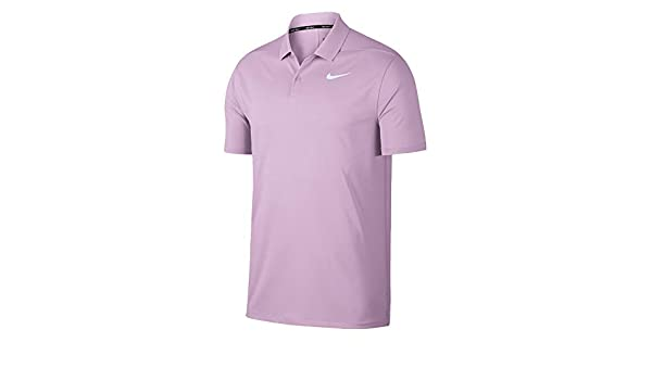 Nike Dri-FIT Victory, Polo Solid LC, Morado (Morado 543), Medium ...
