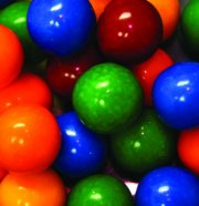 Bubble Gum Balls - Cry Baby Guts Filled, 5 lb bag
