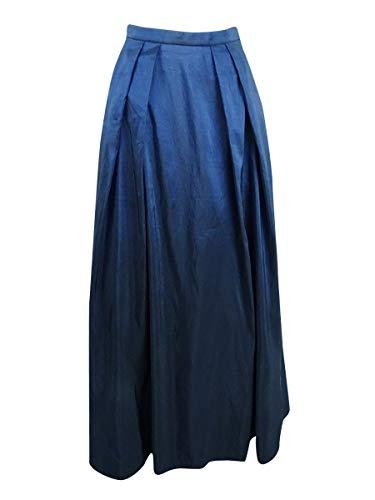 (Alex Evenings Women's Long Skirt Various Styles (Petite and Regular Sizes), Navy Taffeta L)