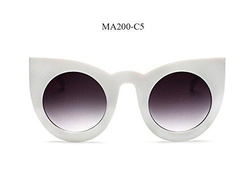 de de UV400 moda gafas redonda gafas de de Mujeres Gafas Gato de C4 de la diseñadores Cat marca Ma200 Ojo Las nuevas Eye Vintage lujo de sol z0qqB
