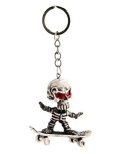 Carnival T.. - Llavero de Esqueleto con monopatín, 11 cm ...