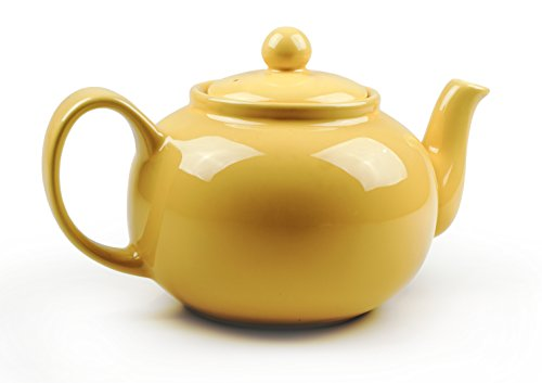 RSVP Large 6-Cup Stoneware Teapot, Yellow