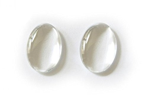 60 Clear Oval Glass Cabochons For Photo Pendant Bezels 13mm