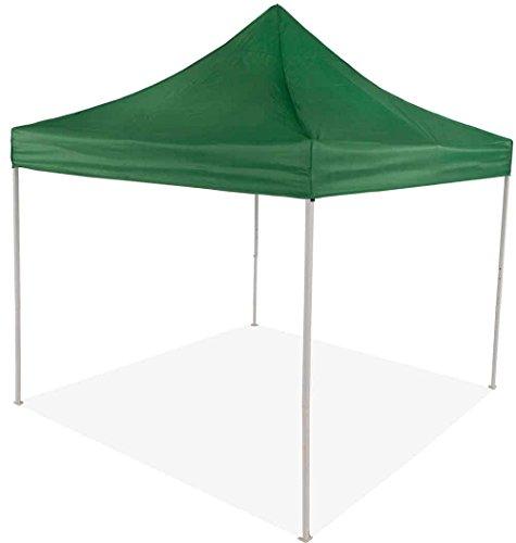 Impact Canopy, 10 x 10 Pop Up Canopy Tent, Instant Outdoor Gazebo Shelter with Recreational Steel Frame, Green