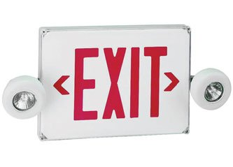 Wet Location Combination Exit Sign with MR 16 Emergency lights ESW-WLC-SML
