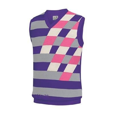 Adidas Performance Men's Graphic Sweater Vest (X-Large, Purp/Zn/Ecru/Pink) (V-neck Sweater Vest Performance)