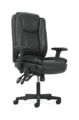 Sadie High-Back Leather Office/Computer Chair - Ergonomic Adjustable Swivel Chair with Lumbar Support (HVST331)