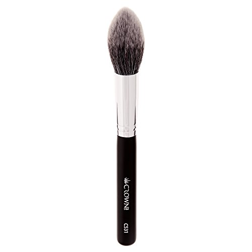High Finish Pointed Brush - Crown PRO - C531 - Pro Lush Pointed Powder/Contour Brush - High Grade Synthetic Fibers