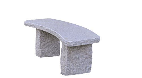 Granite Sculpture - Stone Age Creations BE-GR-5C Curved Granite Bench, Granite