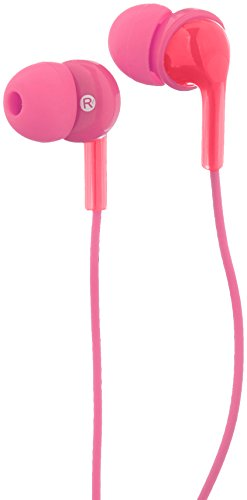 AmazonBasics In-ear Headphones with Mic - Pink