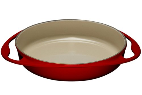Le Creuset L2129-2567 Enameled Cast Iron Tatin Dish, 2 quart, Cherry Red