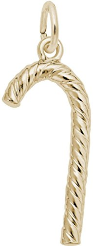 Rembrandt Candy Cane Charm - Metal - 14K Yellow (14k Candy Cane Charm)