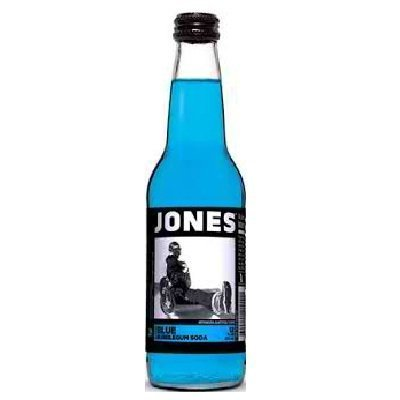 Jones Soda Bubblegum Cane Sugar Soda, Blue by Jones Soda