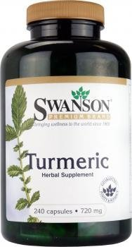 - Swanson Premium Brand Turmeric Whole Root Powder 720 mg, 240 Capsules-2 Count,