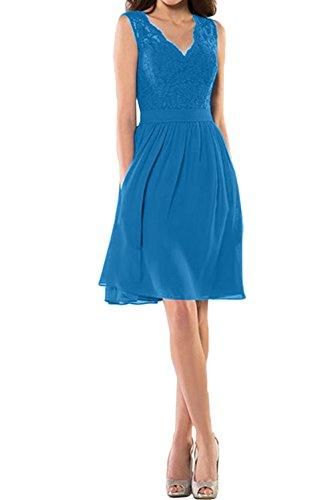 mujer Vestido Azul Topkleider trapecio para B6qwSpt