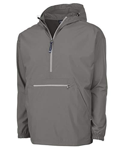 Charles River Apparel Unisex-Adult's Pack-N-Go Windbreaker Pullover (Regular & Extended Sizes), Grey, M