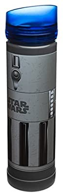 Zak! Designs Tritan Plastic Blue Light Saber Water Bottle with Screw-on Lid