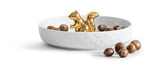 Sagaform 5017722 Holiday Squirrel Plate Gold, White by Sagaform