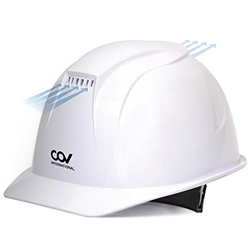 [KEM] Safety Storm Helmet forced ventilation cove Hard Hat Cooling Fan Air Cooler White - - Amazon.com
