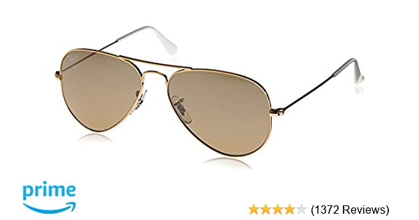 be18a8010 Amazon.com: Ray-Ban 3025 Aviator Large Metal Mirrored Non-Polarized  Sunglasses, Gold/Brown/Silver Mirror (001/3K), 55mm: Clothing