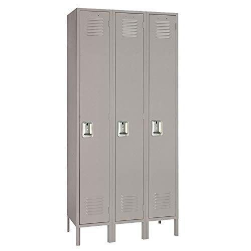 Lyon DD50923 1 Tier Steel Locker Unit with 3 Frames, 54