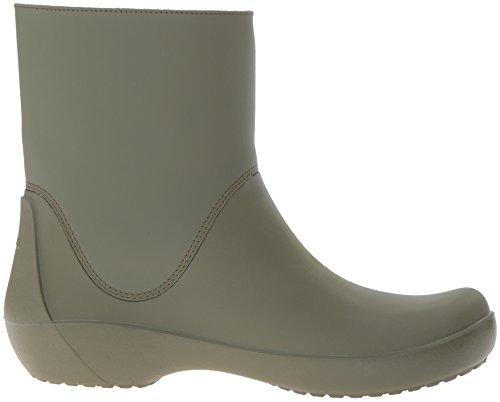 Pluie army Bottes Vert Crocs De Green Rainfloebootie Femme wq77t