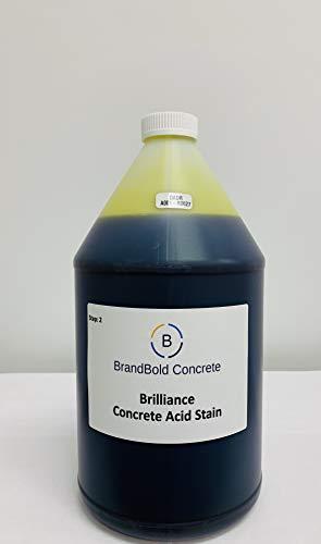 BrandBold Brilliance Concrete Acid Stain - 4 oz Sample - 14 Brilliant Colors - Amazon Custom Sample