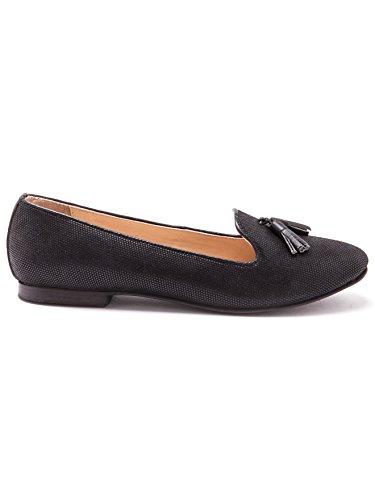 Balsamik - Zapatos de piel estampado pitón, ancho grande - Mujer Negro
