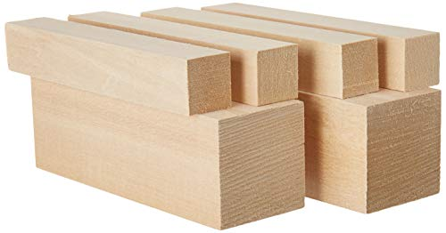 Basswood - Large Carving Blocks Kit - Best Wood Carving Kit for Kids - Preferred Soft Wood Block Sizes Included - Made in The USA