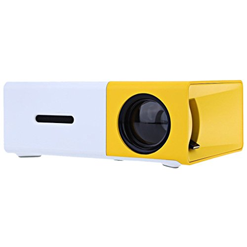 MagiDeal YG-300 Projector Led Portable Home HD Theater Mini 1080p US Plug