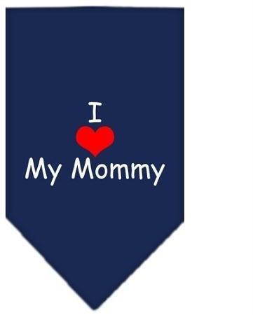 I Heart My Mommy Screen Print Bandana Navy Blue Small Case Pack 24 I Heart My... by DSD