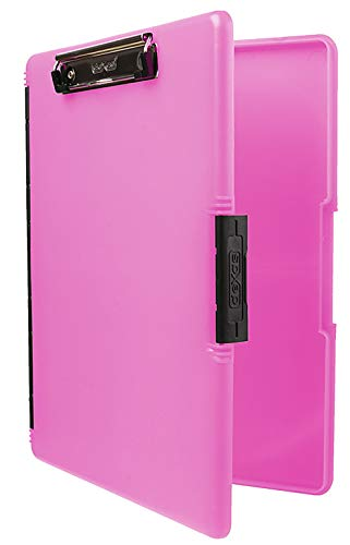Dexas 3517-806 Slimcase 2 Storage Clipboard with Side Opening, Neon Pink