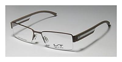 Lightec 7140l Mens Rxable Ultimate Comfort Rectangular Half-rim Flexible Hinges Eyeglasses/Eyewear