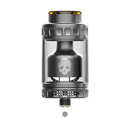 E Cigarette Vaporizer, DOVPO BLOTTO RTA Top Refill Vaporizer 2ml with Glass Bubble Tube 6ml-Without Nicotine Without Tobacco (Gunmetal)