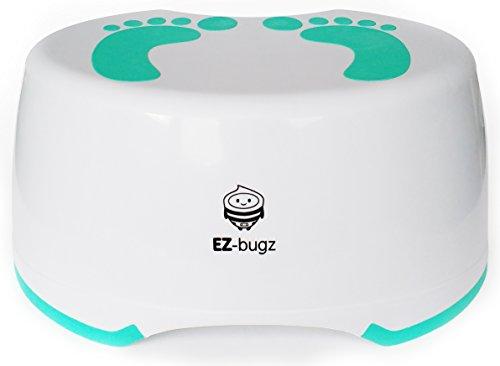 EZ-Bugz Tritthocker, Kinderschemel zum Toilettentraining, für Kinder und Kleinkinder. Antirutsch Fußbank für Badezimmer