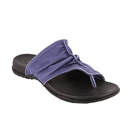 Taos Footwear Women's Leisure Indigo Vintage Canvas Sandal 9 M US