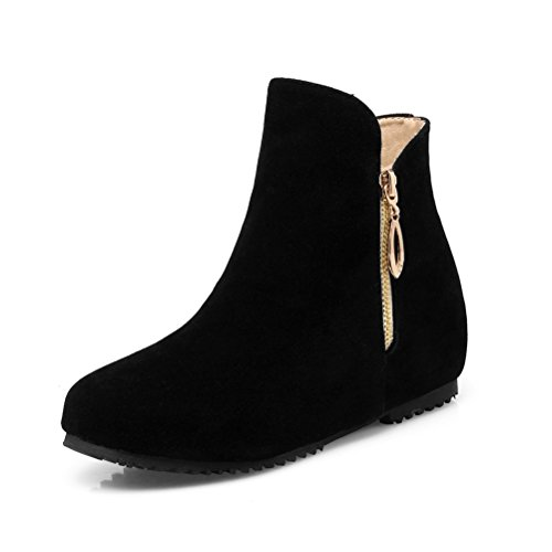 Donalworld Women Suede High Heel Martin Ankle Boot Pt11 NoknRtuLM