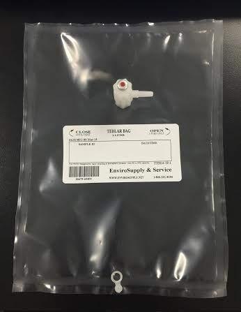 EnviroSupply Tedlar Sampling Bags 1 Liter, Premium (Vapor, Gas, Air) Sampling Bag