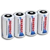 4 pcs of Tenergy Premium C Size 5000mAh High Capacity High Rate NiMH Rechargeable Batteries