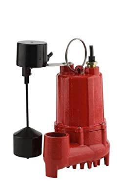 Red Lion RL-SC50T 1/2-HP 4300-GPH Sump Pump with Tethered Float Switch