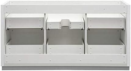 Fresca Valencia 60 cm brillante color blanco libre de pie único fregadero moderno armario de baño: Amazon.es: Bricolaje y herramientas