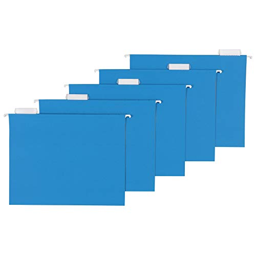 AmazonBasics Hanging Folders, Letter Size, Blue, 25 per Box