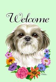 Shih Tzu Puppy Cut - Tomoyo Pitcher Welcome Flowers Garde...