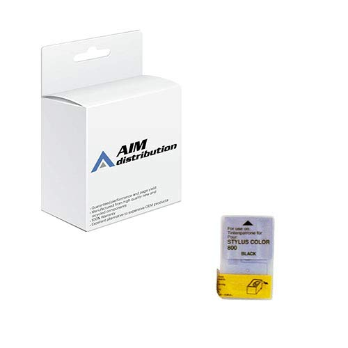 (AIM Remanufactured Replacement for Stylus Color 740/800 Black Inkjet (900 Page Yield) (S020108-US))