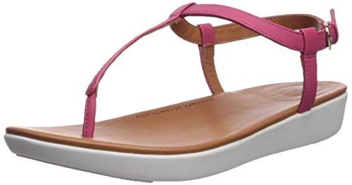 FitFlop Women's TIA Toe-Thong Sandals-Leather, Psychedelic Pink 7 M US