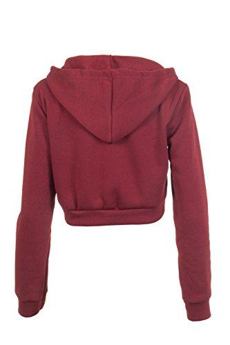 Babe 23vientre sin capucha chaqueta Crop Zip Hoodie Jacket Print aufdruck diferentes colores Sudadera con capucha loomi disfrazados borgoña