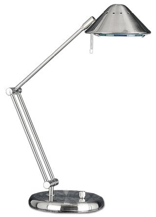 Lite Source LS-3414PS Space Traveller Halogen Desk Lamp, Polished Steel by Lite Source