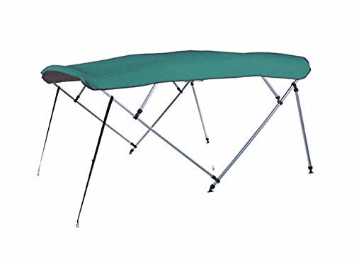 7oz-TEAL-4-BOW-SQUARE-TUBE-BOAT-BIMINI-TOP-with-running-light-cutout-SUNSHADE-TOP-FOR-SAFARI-SAFARI-20-ALL-YEARS