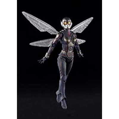 "Bandai Tamashii Nations S.H.Figuarts The Wasp & Stand Set ""Ant-Man and The Wasp"" Action Figure: Toys & Games"