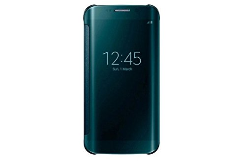 Bradychan S-View Flip Smart Case with a Rear Battery Cover for Samsung Galaxy S6 Edge (green)